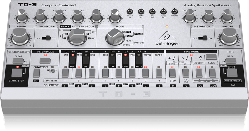 Behringer Reveals New TB-303 Synth Clone, The TD-3